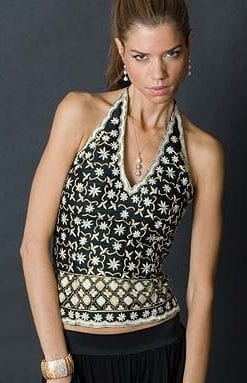 Pure silk bustier top from the AW 2010/11 Collection