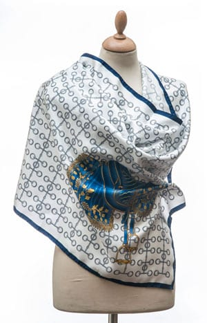 31a4857dc New Annata Cavaliere Silk Scarf Designer Collection from Lake Como, Italy:  Bridoon and Saddle