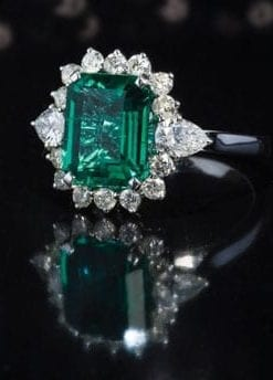 New Hatton Garden Collection: Fine Emerald, Diamond and 18ct Gold Ring