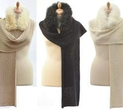Luxurious new baby alpaca fur-trimmed wrap