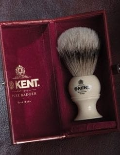 The ultimate shave: silver tip badger hair shaving brush for men: by Kent, the Royal Warrant Holders