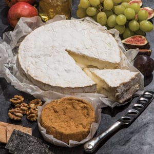 Gourmet Whole Cheeses: Truffled Brie and Calvados Camembert, a snip at £49