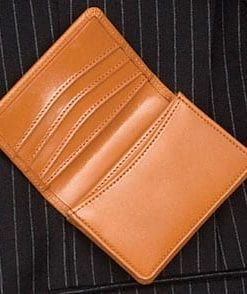 Business card holder in English bridle leather