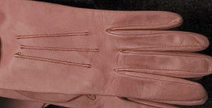 Dusky pink leather gloves by Chester Jefferies