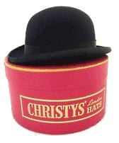 Christys' & Co Devon Hunting Bowler and Hat Box