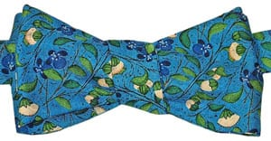 Artists in the garden: new silk bow ties: 'Medieval Flowers' from a French Book of Hours