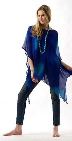 2010 Silk Collection: Blue Lagoon kaftan