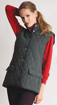 Pytchley peached quilted gilet: soft, warm, and a snip at only £37