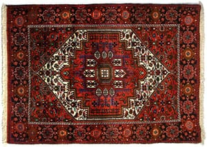 Traditional handmade double-knotted Persian Bidjar rug: a superb deal at £198