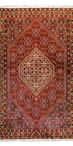 High quality traditional handmade double-knotted Persian Bidjar rug