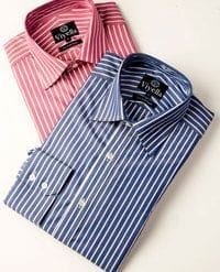 Smart new butcher stripe shirt by Viyella, £39