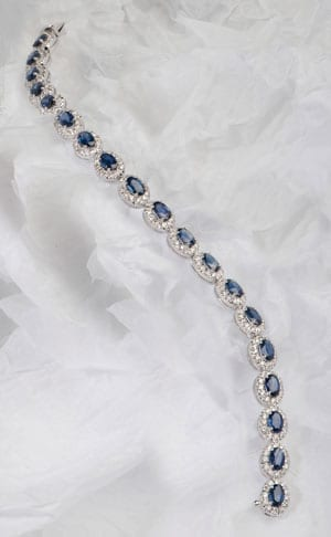 Sapphire and diamond Fleur des Cieux cluster bracelet from the new Hatton Garden collection