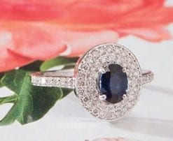 The superb Monaco Sapphire and Diamond ring