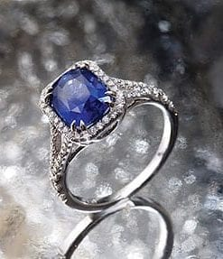 Fabulous 2.84-carat Casimir blue sapphire and diamond ring