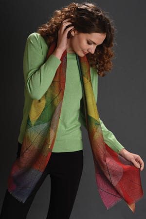 Perfect natural finishing touch: the fabulous Betula Leaf Scarf