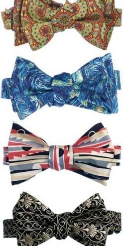 A silk bow tie for the artistic man