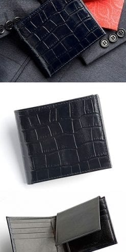 Calf Leather Billfold Wallet