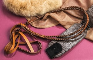 The new country belt: the multi-tie leather Carla by Sassy Queen