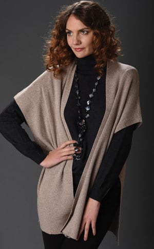 Pure Italian style: the lovely cashmere-silk Carissa