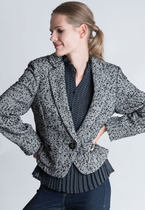 The New British Heritage: Chelsea Cropped Jacket in tweed bouclé