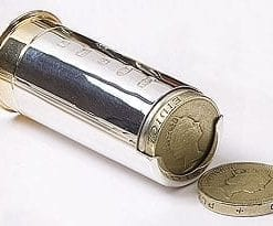 English Sterling Silver Shotgun Cartridge Coin Holder