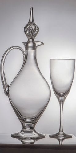 Elegant English crystal handled claret jug