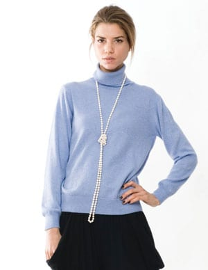 Pure Italian style: cashmere-silk polo neck jumper in gorgeous new colours