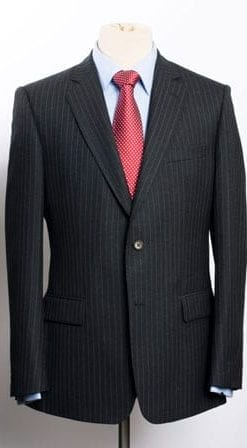 Beautiful new pure wool charcoal pinstripe suit