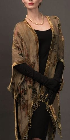 Gorgeous pure silk devore Chambord Kimono: Members save £70