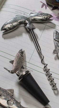 Original leaping salmon corkscrew by the English Pewter Company