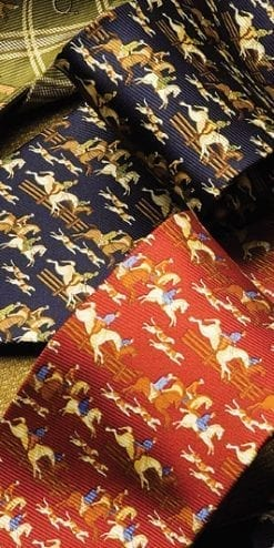 Pure silk tie: The Chase hunting scene