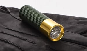 Smart new gadget from Bisley:  mini LED torch which thinks it's a shotgun cartridge