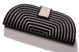 Art Deco black and crystal clutch