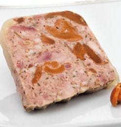 Delicious Rougie Duck Terrine with Chestnuts and Wine: 1kg only £29
