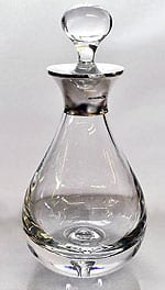 English sterling silver mounted teardrop decanter
