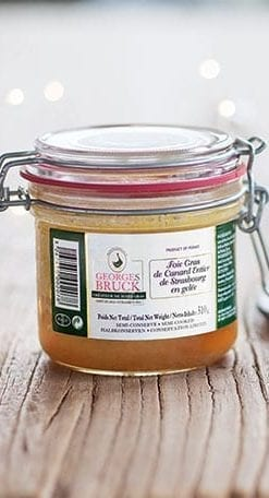 The ultimate Whole Foie Gras En Gelee with Madeira, from Georges Bruck of Strasbourg: Duck, 2 x 180g jars