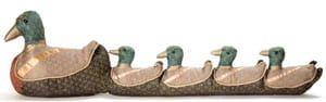Ducks in a row, by Dora Designs: a happy way to stop the wind whistling under the door