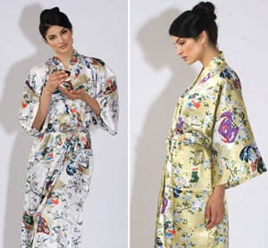 Pure silk Chiyoda kimono gown for glamorous nights and dawns