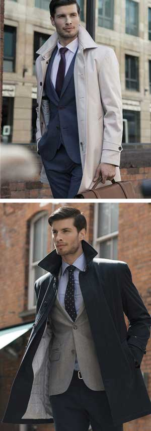 Smart overcoat for men-about-town: save over £100