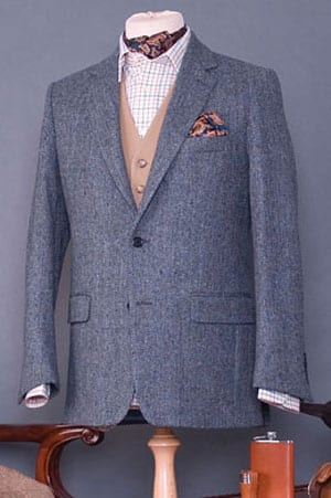 Finest Donegal handwoven and tailored tweed jacket