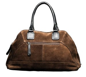 Calf suede handbag by English designer Shona Easton