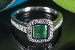 Fabulous new emerald, diamond and 18ct gold ring from Hatton Garden: Members save over £2,800