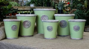 Hand-thrown pots from the Royal Botanic Gardens, Kew: Set of Two Footed Bowls
