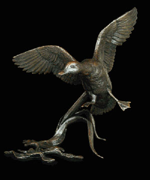 Bronze Flying Duck  by Michael Simpson