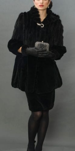 Tailored elegance: the new fox fur swing coat