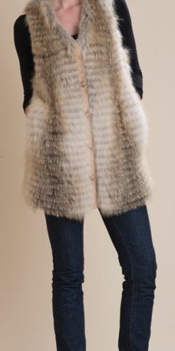 The new luxurious long-line fox fur gilet