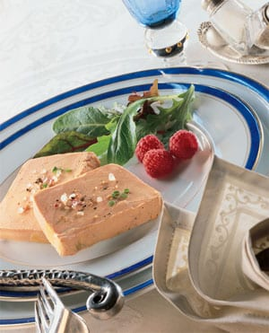 Gorgeous Rougie foie gras with peppers and Champagne: a snip at £43 delivered