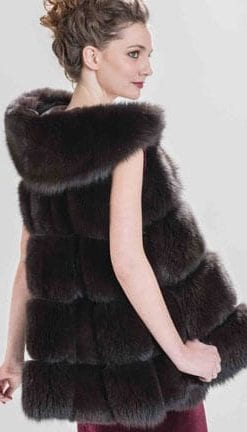 Haute Collection: Opulent Fur: Fabulous A-line swing-cut mink hooded gilet