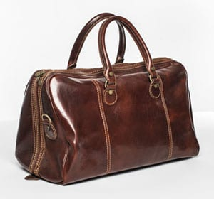 Super new Italian leather holdall, only £119