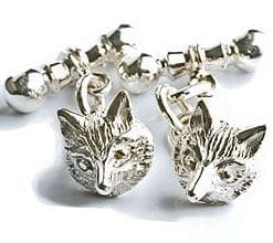 Silver Fox Mask Cufflinks